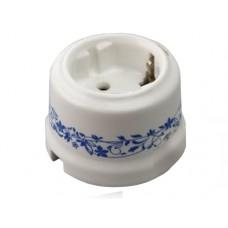 Розетка электрическая Retrika RS-800004, цвет декор синий №2