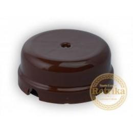 Коробка распаечная Ø78 мм Retrika RR-09012, цвет коричневый
