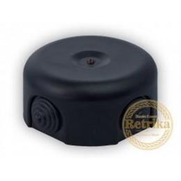 Коробка распаечная Ø90 мм Retrika RR-09009, цвет черный матовый