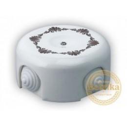 Коробка распаечная Ø90 мм Retrika RR-090001, цвет декор коричневый №1