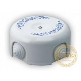 Коробка распаечная Ø90 мм Retrika RR-090004, цвет декор синий №2