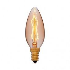 Лампа Эдисона C35 F7 Sun Lumen 052-085, цвет золотой