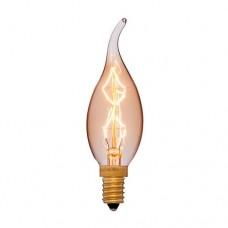 Лампа Эдисона CF35 F7 E12 Sun Lumen 053-709, цвет золотой