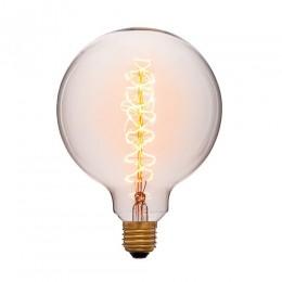 Лампа Эдисона G125 F2 Sun Lumen 052-030, цвет золотой