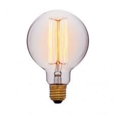 Лампа Эдисона G95 F2 Sun Lumen 051-996, цвет золотой