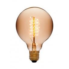 Лампа Эдисона G95 F5+ Sun Lumen 053-655, цвет золотой