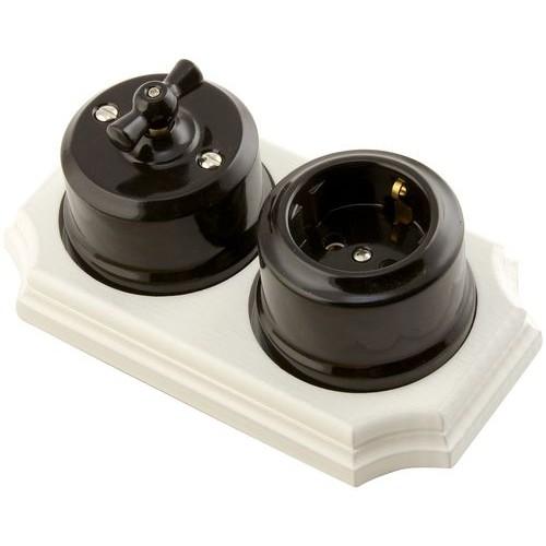 Розетка электрическая Lindas 35015, цвет черный