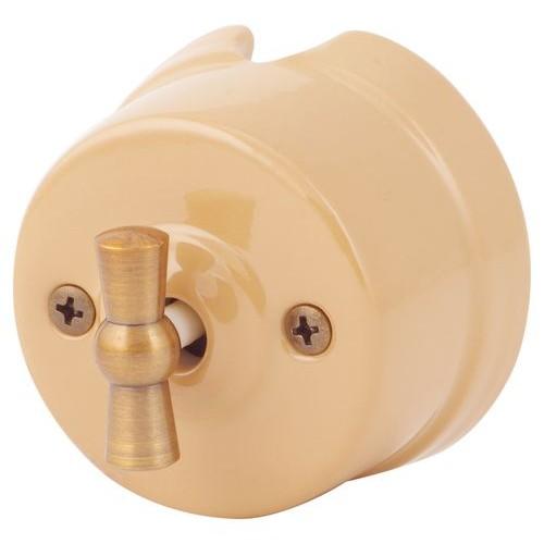 Выключатель перекрестный Salvador OP31PC, цвет персиковый