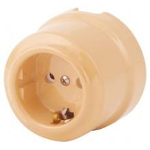 Розетка электрическая Lindas 350-ТП, цвет темно-персиковый