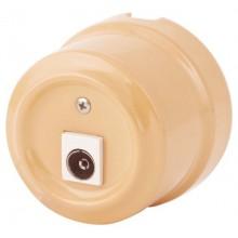Розетка телевизионная Lindas 325-ТП, цвет темно-персиковый