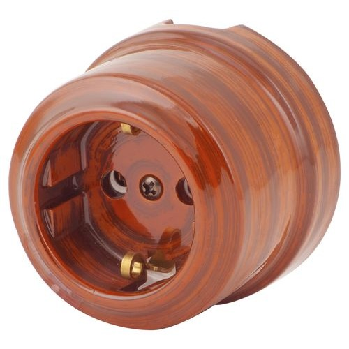 Розетка электрическая Lindas 35027, цвет палисандр