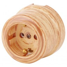 Розетка электрическая Lindas 35024, цвет кедр