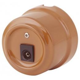Розетка телевизионная Lindas 325-МШ, цвет молочный шоколад