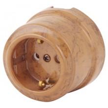 Розетка электрическая Lindas 35030, цвет капучино