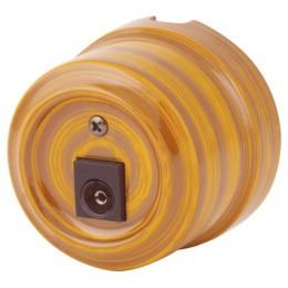 Розетка телевизионная Lindas 32525, цвет бамбук