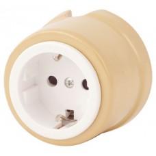 Розетка электрическая Salvador OP12GI, цвет имбирь