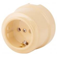 Розетка электрическая Lindas 350-СК, цвет слоновая кость