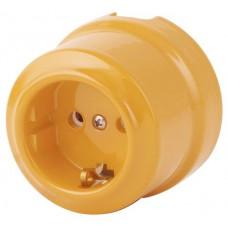 Розетка электрическая Lindas 350-ЗО, золотистая охра