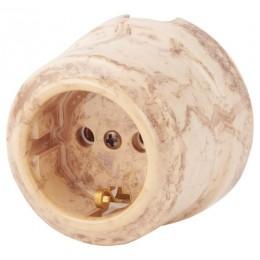 Розетка электрическая Lindas 35031, цвет карамель
