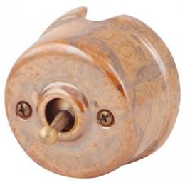 Выключатель тумблерный Salvador OP41RSM, цвет мрамор россо