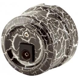 Розетка телевизионная Lindas 32528, цвет черный камень