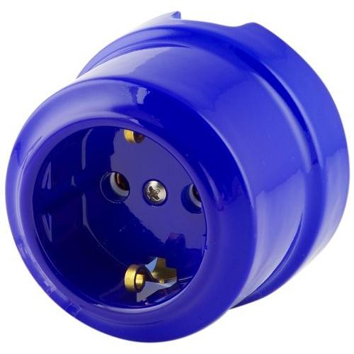 Розетка электрическая Lindas 350-С, цвет синий