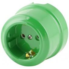Розетка электрическая Lindas 350-З, цвет зеленый