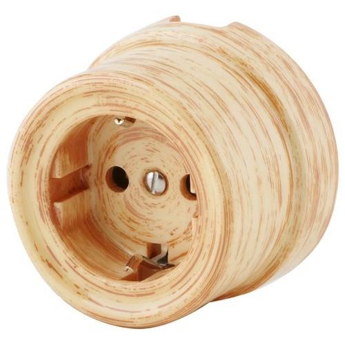 Розетка электрическая со шторками Werkel a036796-БП, цвет бежевая патина