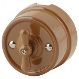 Выключатель 2-х позиционный Werkel a036793-К, цвет капучино