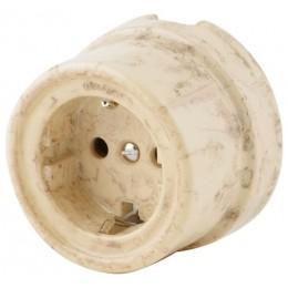 Розетка электрическая со шторками Werkel a036796-СМ, цвет светлый мрамор