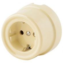 Розетка электрическая Werkel a036795-СК, цвет слоновая кость