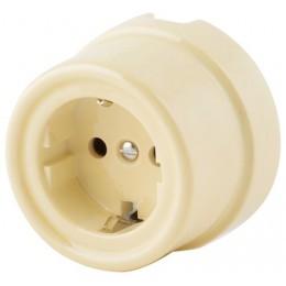 Розетка электрическая со шторками Werkel a036796-СК, цвет слоновая кость