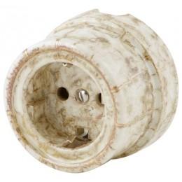 Розетка электрическая со шторками Werkel a036796-М, цвет мрамор