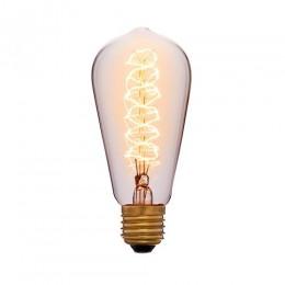 Лампа Эдисона ST58 F5 Sun Lumen 052-191, цвет золотой