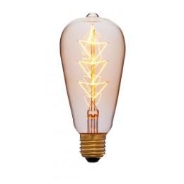 Лампа Эдисона ST64 F10 Sun Lumen 053-556, цвет золотой
