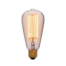 Лампа Эдисона ST64 F2 Sun Lumen 051-910a, цвет золотой