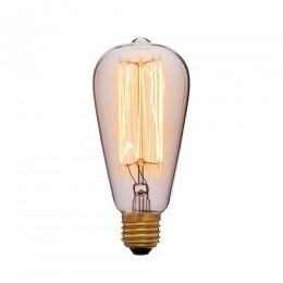 Лампа Эдисона ST64 F2 Sun Lumen 053-242a, прозрачная