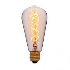 Лампа Эдисона ST64 F5 Sun Lumen 051-927, цвет золотой