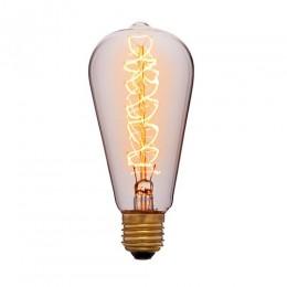 Лампа Эдисона ST64 F5 Sun Lumen 052-269, прозрачная