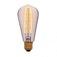 Лампа Эдисона ST58 F7 Sun Lumen 053-563, цвет золотой