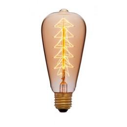 Лампа Эдисона ST64 F9 Sun Lumen 053-518, цвет золотой
