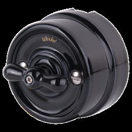 Выключатель 2-х позиционный Werkel a036811, цвет черный