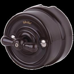 Выключатель 2-х позиционный Werkel a036803, цвет коричневый
