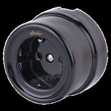 Розетка электрическая Werkel a036815, цвет черный