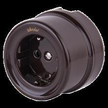 Розетка электрическая со шторками Werkel a036808, цвет коричневый