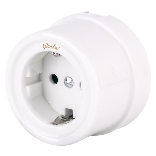 Розетка электрическая со шторками Werkel a036796, цвет белый