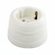 Розетка электрическая Greenel GE70301-01, цвет белый