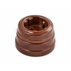Розетка электрическая Greenel GE70301-04, цвет коричневый