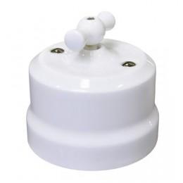 Выключатель 2-х позиционный Lindas 34010, цвет белый