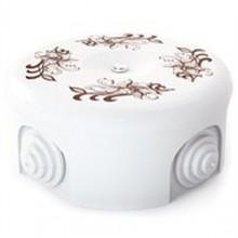 Коробка распаечная Ø90 мм Lindas 33517, цвет орнамент №1 (коричневый)